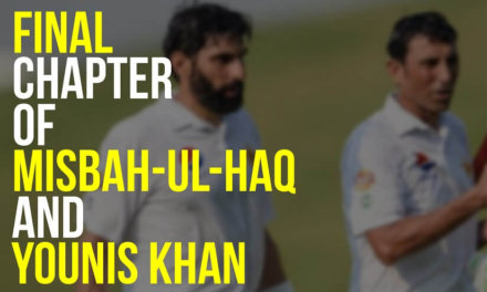 Final Chapter of Misbah ul Haq & Younis Khan