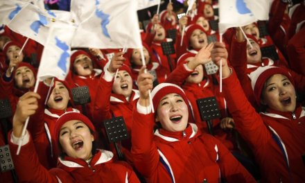 North Korea's delegation at the 2018 winter Olympics