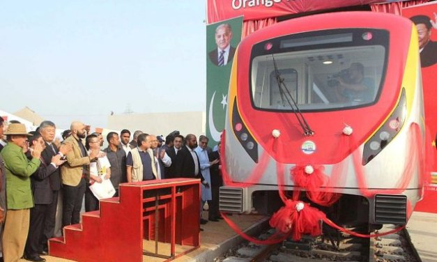 Orange Line Metro Train ready to hit the tracks